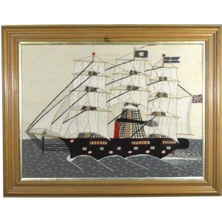 Sailor's Woolwork (Woolie) of a Ship of Large Size, Circa 1875-1895