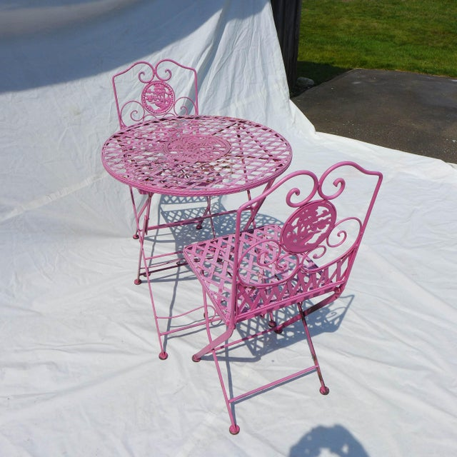Image of Fuchsia Outdoor Bistro Set - Set of 3