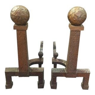 Arts and Crafts Andirons - a Pair