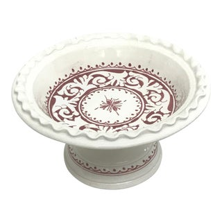 Moroccan Small Ceramic & Handpainted Coupe Plate