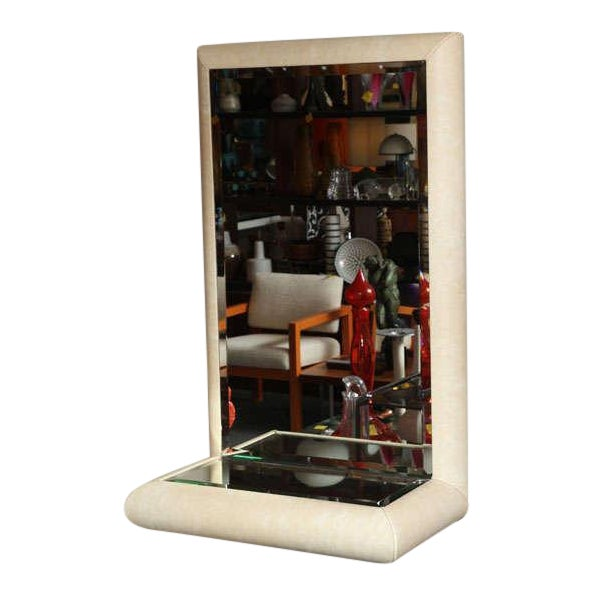 Springer Style Mirror Console in Faux Lizard by Jaru, California - Image 10 of 11