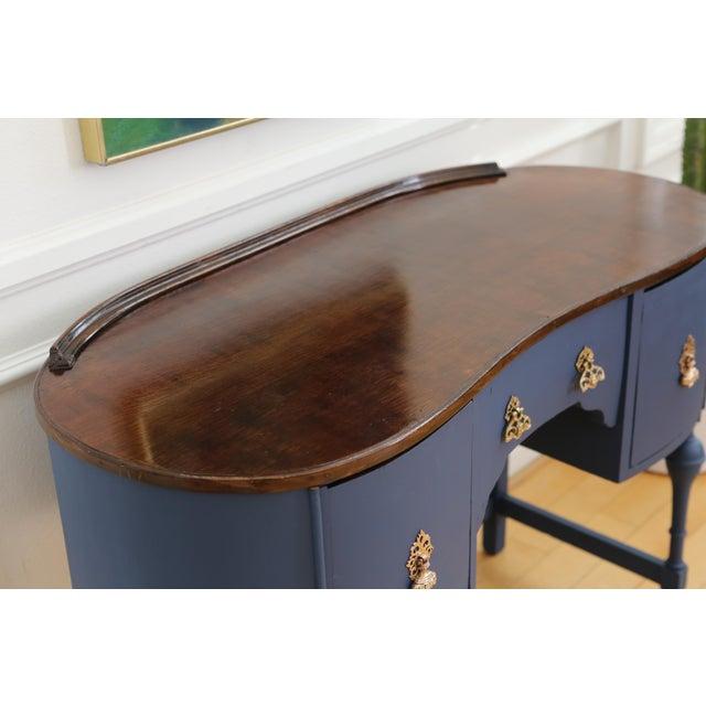 Circa 1930 Louis XV Style Petite Kidney Shaped Desk - Image 5 of 11