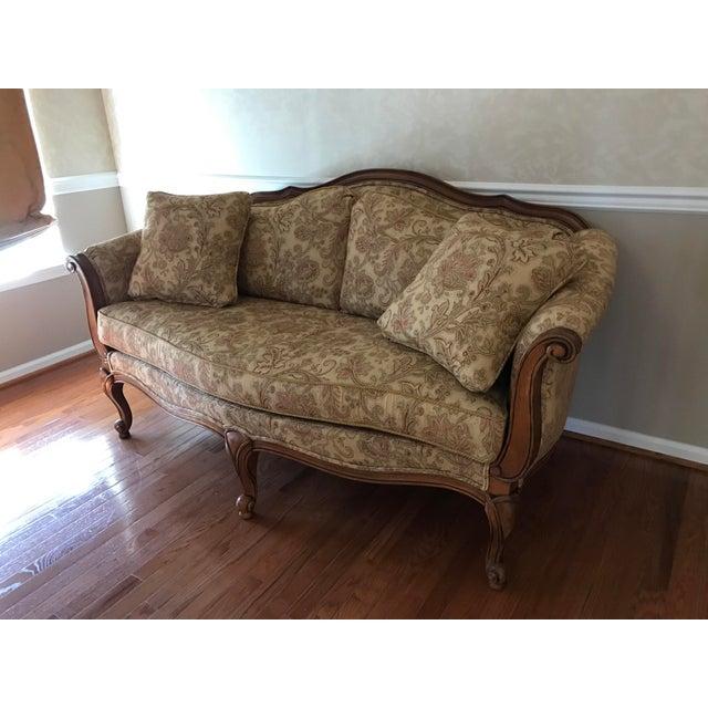 "Image of Ethan Allen ""Evette"" Upholstered Settee"