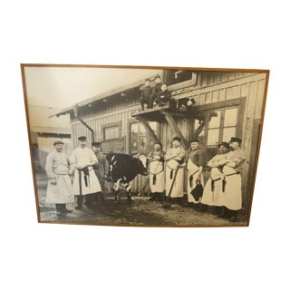 Large Vintage Butcher Photo
