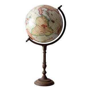Vintage Globe on Metal Stand