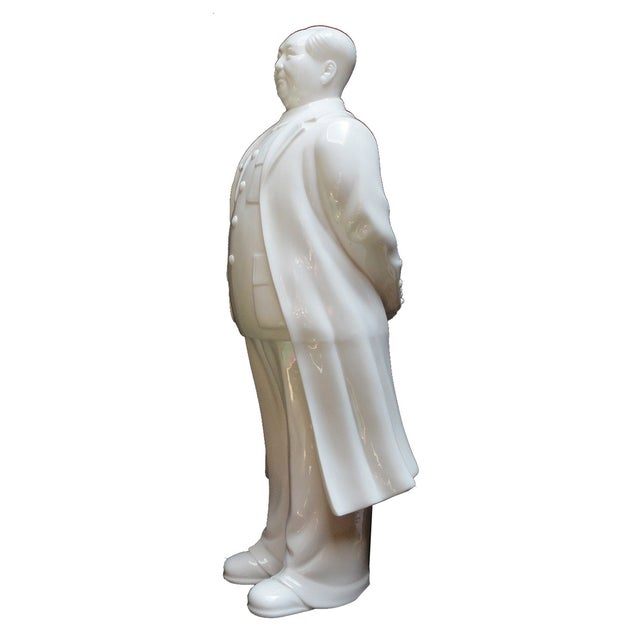 White Porcelain Chairman Mao Standing Figure - Image 3 of 4