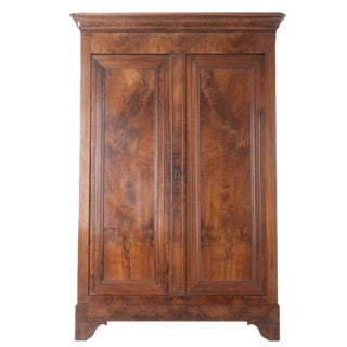 French 19th Century Walnut Louis Philippe Armoire