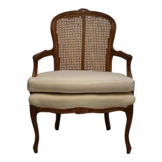 Louis XVI Style Cane Back Fauteuil Armchair
