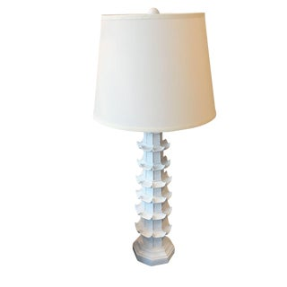 White Brighton Pagoda Table Lamp