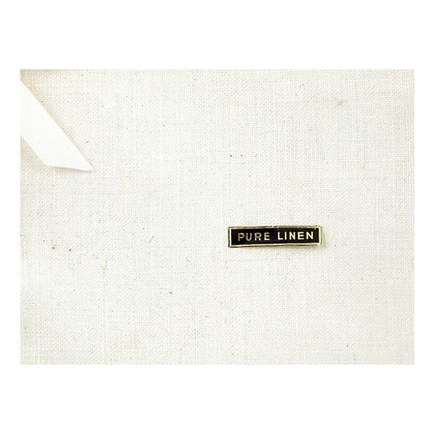 Image of Vintage Cream Linen Placemats - Set of 4
