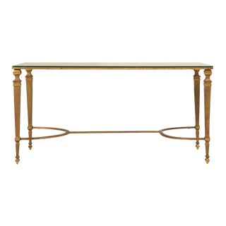 Vintage French 1940's Maison Jansen Gilt Bronze Coffee Table