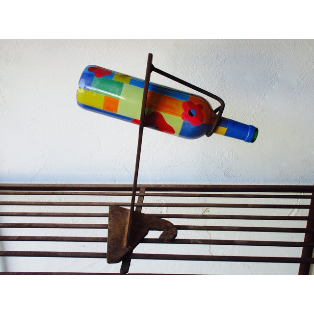 Mid-Century Modern Abstract Sculptural Wood Wine Holder - Image 8 of 11