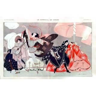 """1913 La Vie Parisienne """"Venice Carnival"""" Print"""