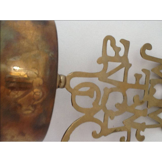 Image of Vintage Brass Mom We Love You Paper Weight