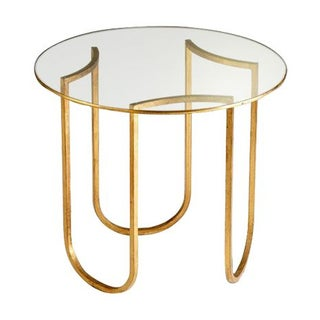 Gold and Glass Vincenzo End Tables - A Pair