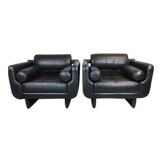 Vladimir Kagan Matinee Leather Club Chair - Pair