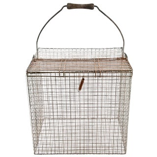 Vintage French Wire Bird Carrier