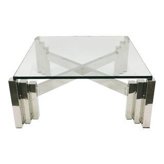 Willy Rizzo Chrome Skyscraper Coffee Table Base