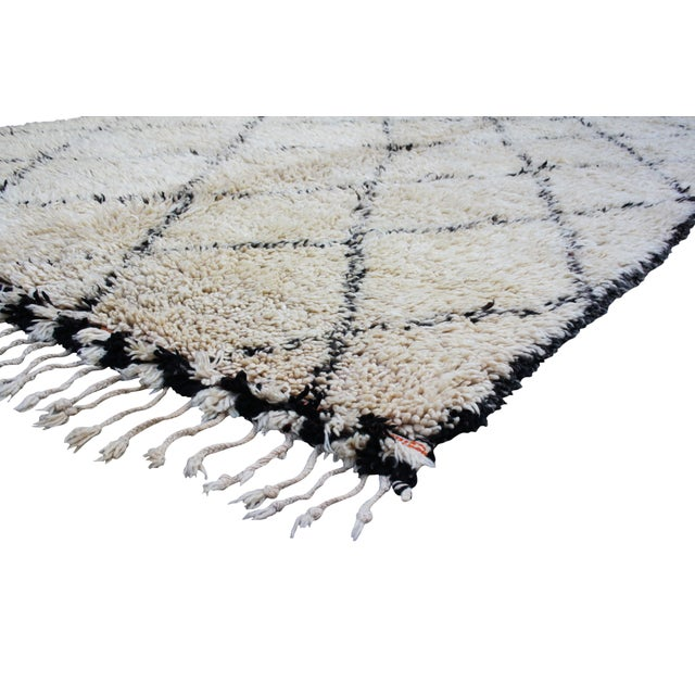 Moroccan Beni Ourain Rug - 6′6″ × 13′5″ - Image 2 of 4