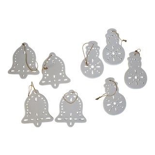 White Christmas Ornaments - Set of 8