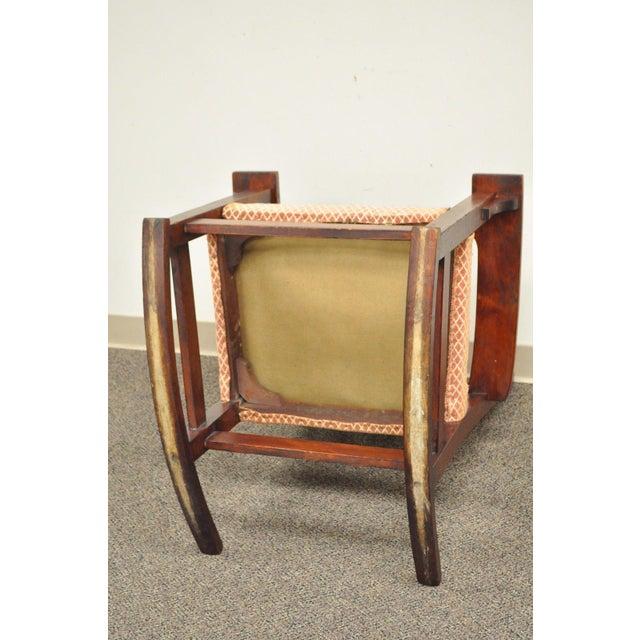 Antique Solid Maple Mission Arts & Crafts Rocker Rocking Chair Stickley Era - Image 6 of 10