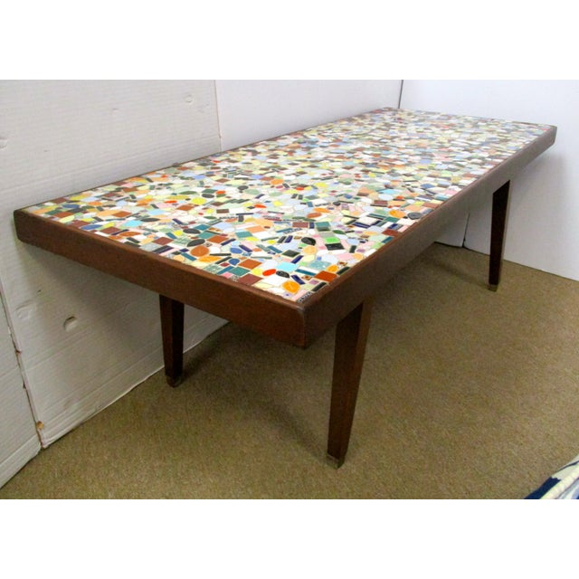 Image of 1960's Mosaic Tile Top Coffee Table