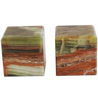 Italian Agate Cubes - A Pair