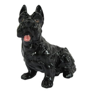 Vintage Scottish Terrier Ceramic Figurine