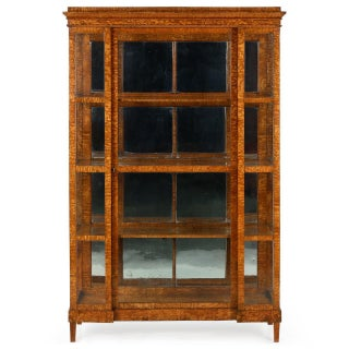 Biedermeier Olivewood and Glazed Glass Vitrine, 19th Century