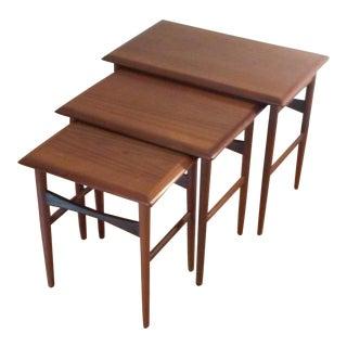 Svendborg Mid-Century Teak Nesting Tables - Set of 3