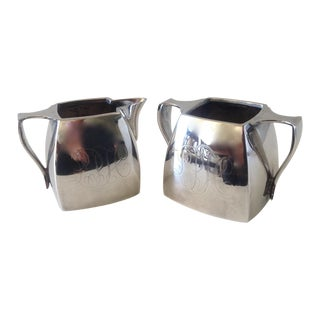 Vintage Silverplate Creamer & Sugar Server Set