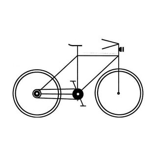 Geometric Black & White Bicycle Poster