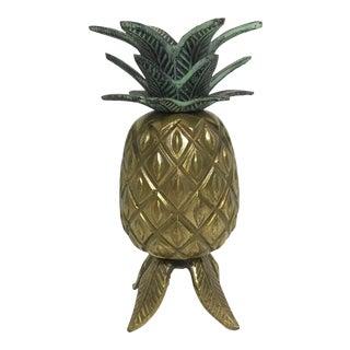 Green & Brass Pineapple Candleholder