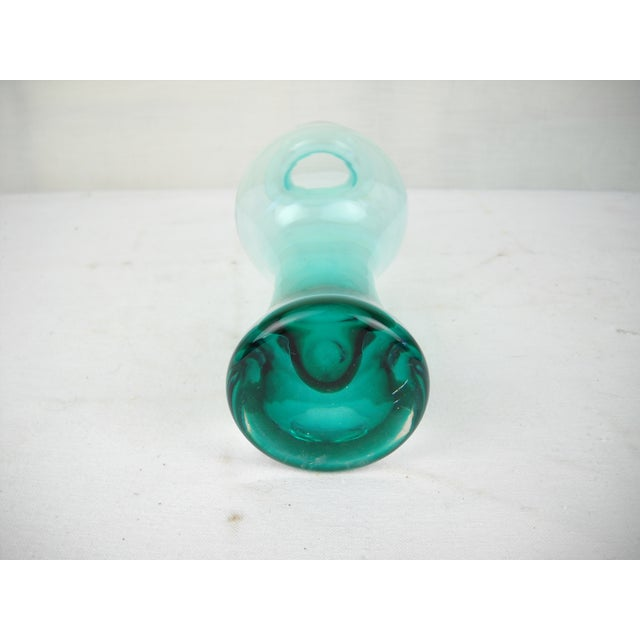 Image of Green Ombre Art Glass Vase