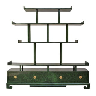Green Malachite Pagoda Etagere