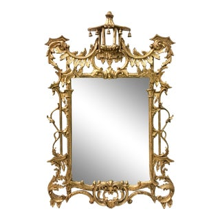 Italian Giltwood Chippendale Style Mirror