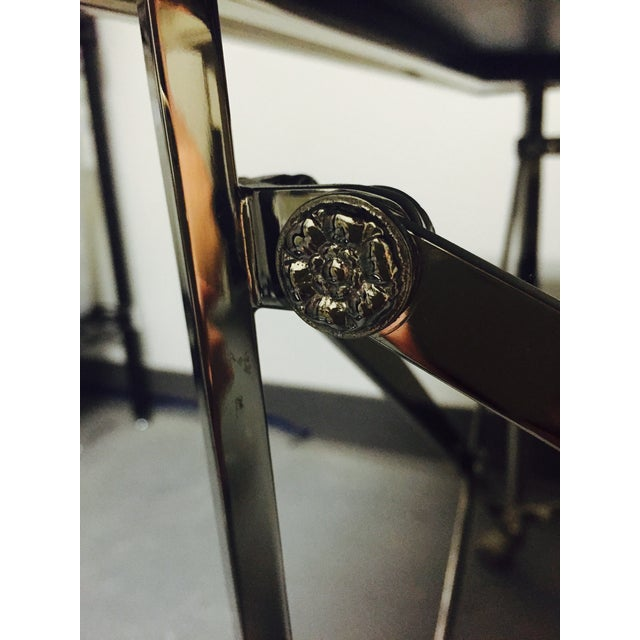 Ralph Lauren Black Glass Top Coffee Table - Image 5 of 8