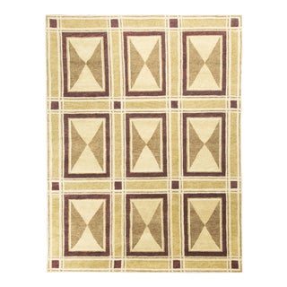 "Contemporary Hand Knotted Wool Rug - 8'11"" x 11'6"""