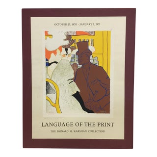 "Original Poster Advert of ""Language of the Print"""