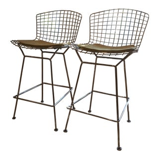 Knoll Bertoia Chrome Stools - Pair