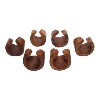 Danish Modern Teak Napkin Rings - Set of 6