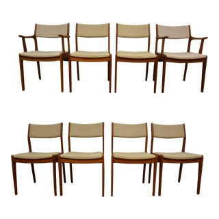 Danish Style Teak Dining Chairs - Set of 8