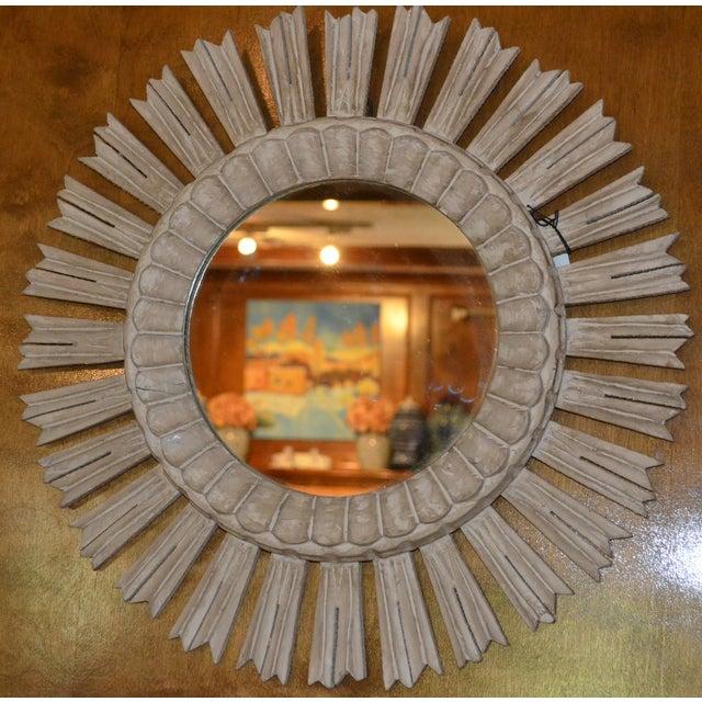 Arteriors Home Hand Carved Sunburst Mirror - Image 6 of 8