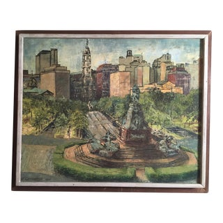 Mid-Century View of Philadelphia Painting by Callahan 1964