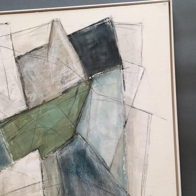 Large Kimberly Moore Rectilinear Acrylic Painting - Image 4 of 7
