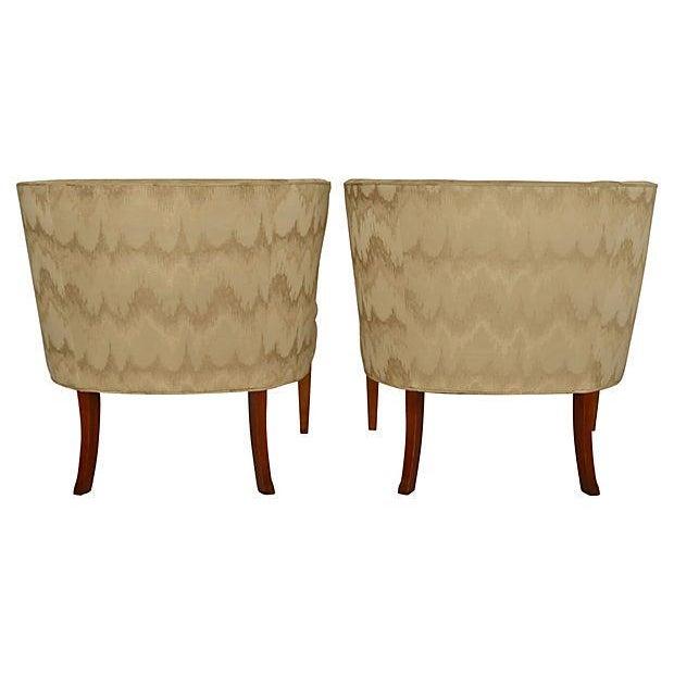 Barrel Back Regency Slipper Chairs Pair Chairish