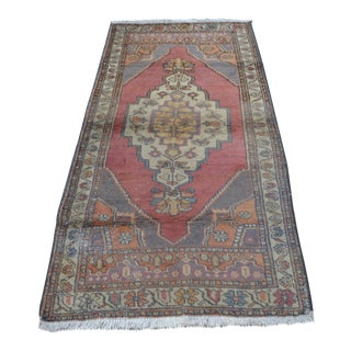 Turkish Handmade Carpet - 3′1″ × 6′6″
