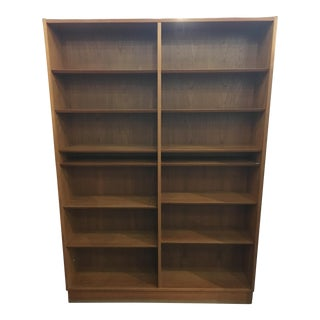 Tall Danish Teak Bookcase