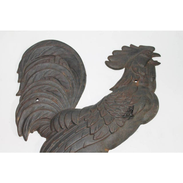 19th Century Cast Iron Wall-Mounted Rooster - Image 3 of 5