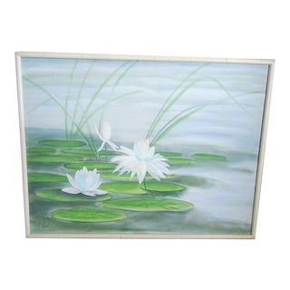 Water Lily Oil on Canvas Painting